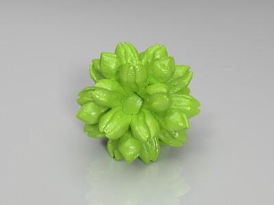 含苞待放的花朵-3d打印模型