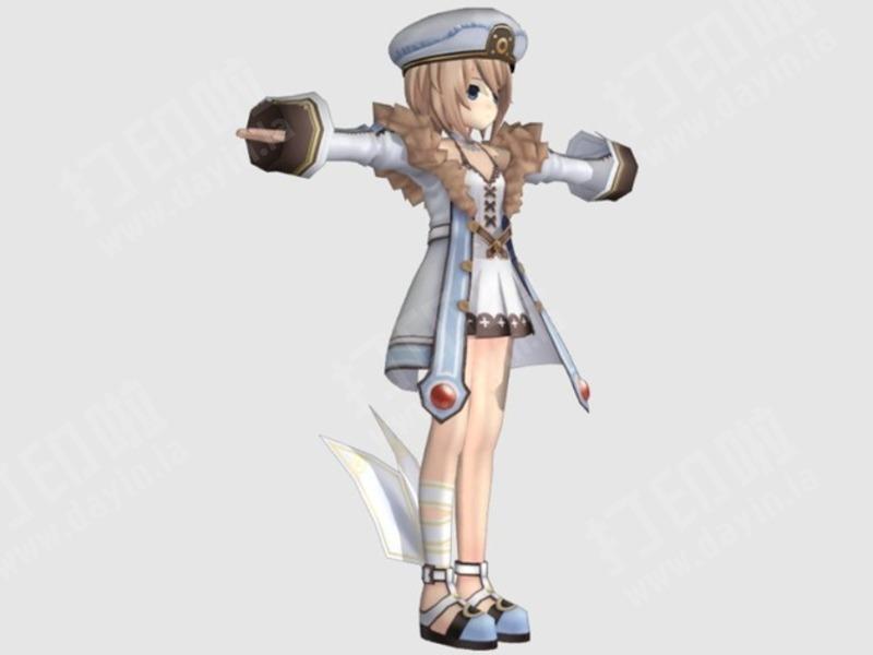 动漫少女-3d打印模型