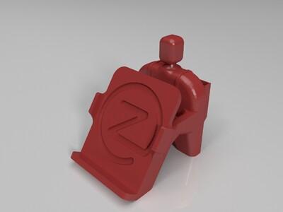 小米2s手机架-3d打印模型