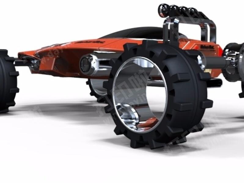 未来越野车-3d打印模型