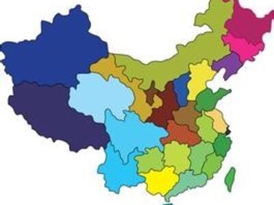 中国地图省份拼图图片