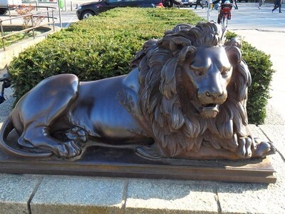 铁狮子雕像-3d打印模型