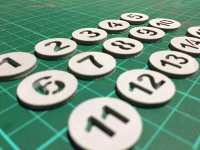 数字1-15-3d打印模型
