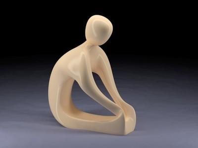 艺术雕塑小人-3d打印模型
