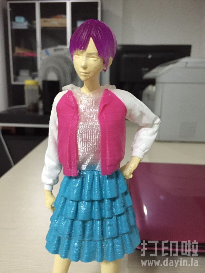 短头发的女孩-3d打印模型
