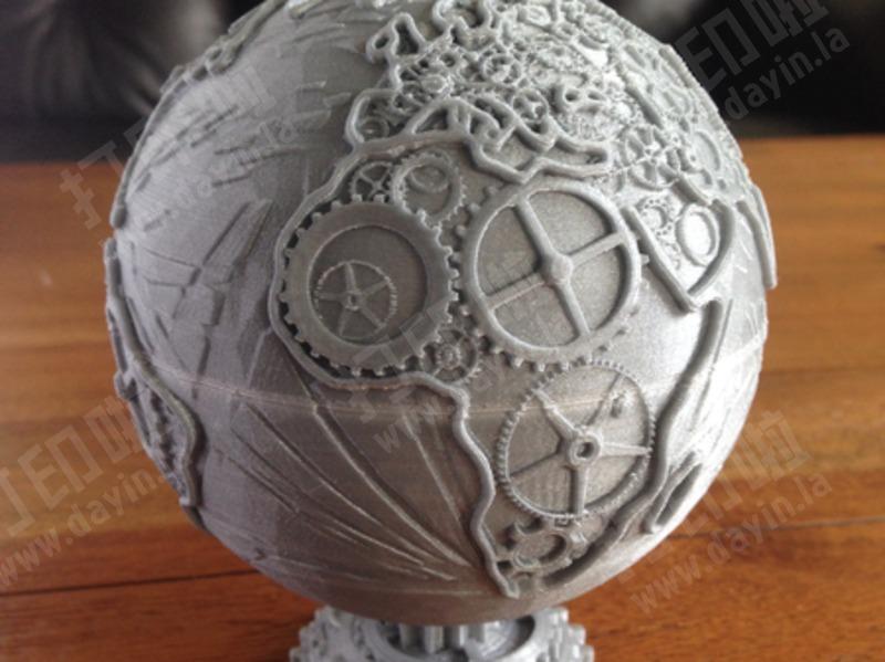 齿轮地球仪-3d打印模型