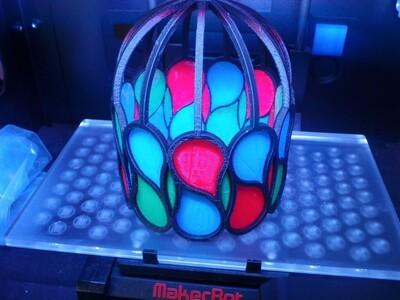 伪彩色玻璃灯-3d打印模型