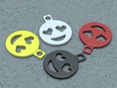 emoji表情吊坠-3d打印模型
