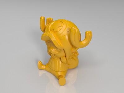 乔巴(坐着)-3d打印模型