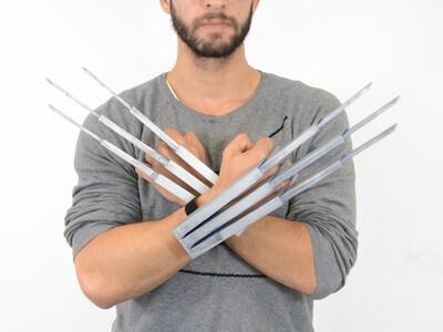 金刚狼的爪子-3d打印模型