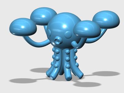 海底小纵队-章鱼堡-3d打印模型