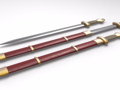 古剑-3d打印模型