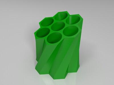蜂巢笔筒2-3d打印模型
