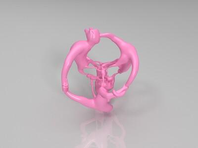 立体艺术猴子-3d打印模型