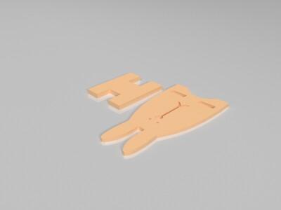 小兔子手机架-3d打印模型