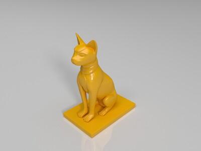 埃及猫-3d打印模型
