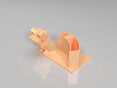 阿木木笔筒-3d打印模型