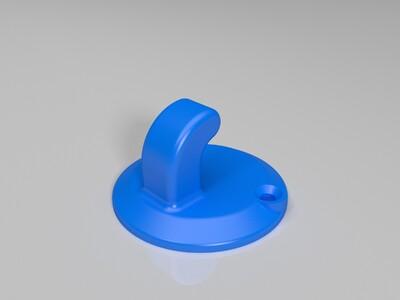 毛巾挂钩 衣帽钩子-3d打印模型
