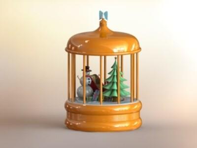 圣诞雪景-3d打印模型