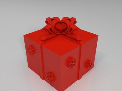 圣诞礼物盒-3d打印模型