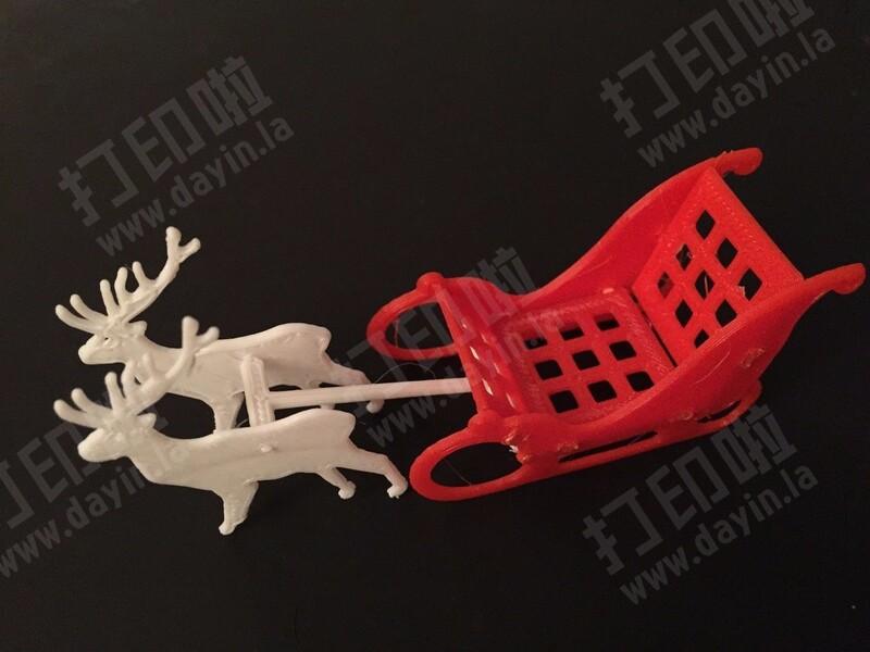 圣诞节麋鹿车-3d打印模型