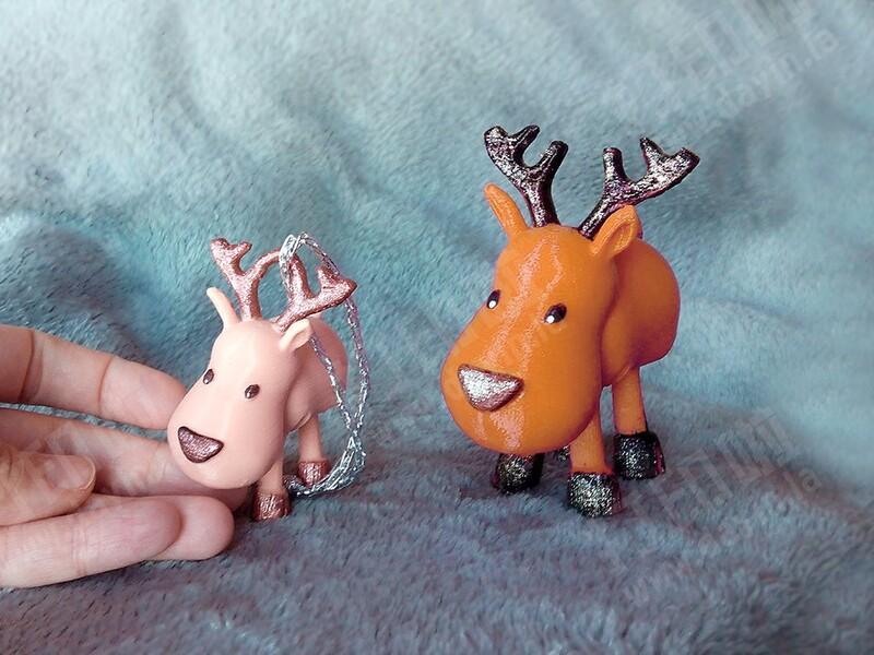 小关节驯鹿-3d打印模型