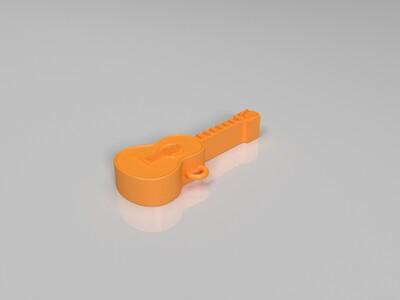 吉他钥匙扣-3d打印模型