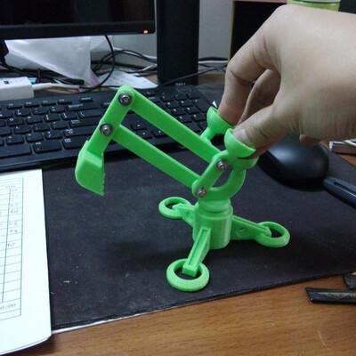 手指挖掘机-3d打印模型