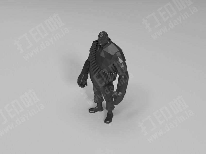 战士-3d打印模型