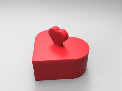 爱心礼物盒-3d打印模型