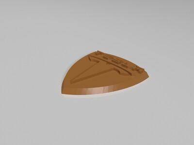 特斯拉徽标-3d打印模型