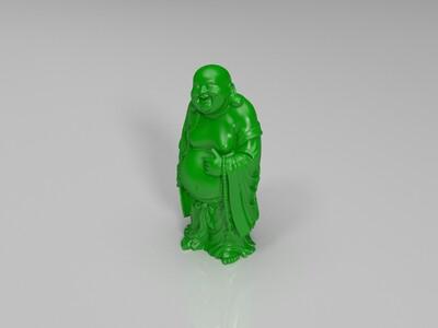 扇子 弥勒佛-3d打印模型