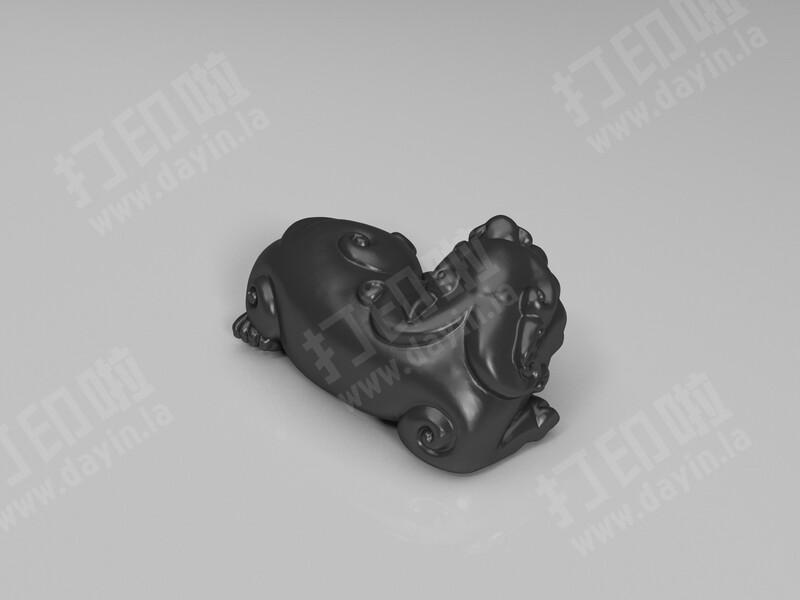 五尾貔貅卧式-3d打印模型