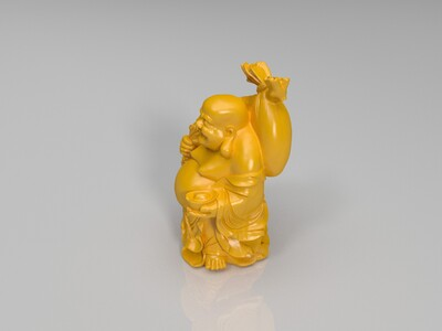 弥勒黄金袋-3d打印模型