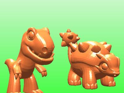 萌萌哒的恐龙-3d打印模型