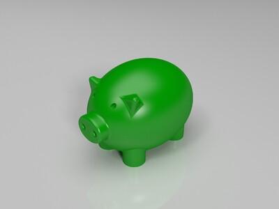 可爱小猪-3d打印模型