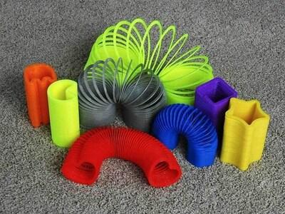 弹簧圈(9种)-3d打印模型