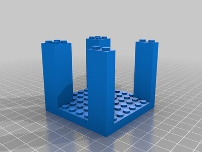 乐高底座塔-3d打印模型