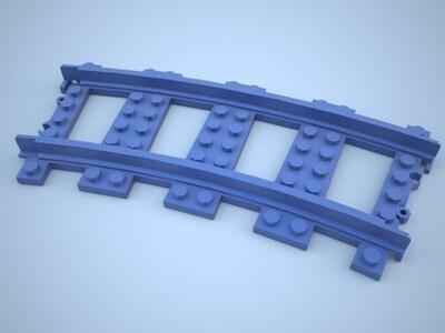 乐高铁轨(直道+弯道)-3d打印模型