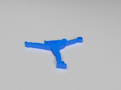 飞人乔丹标志挂坠-3d打印模型