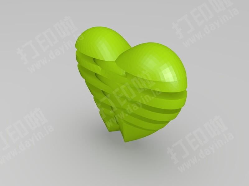 心心相印-3d打印模型
