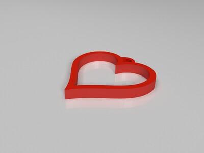 心形吊坠-3d打印模型