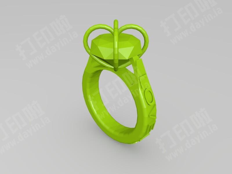 爱心钻戒-3d打印模型