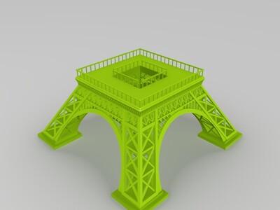 埃菲尔铁塔组件整套-3d打印模型