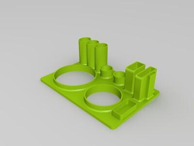卫生间洗漱用品盒-3d打印模型图片