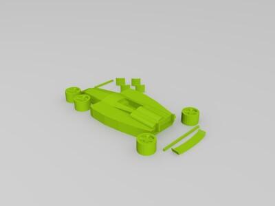 FI组装赛车-3d打印模型