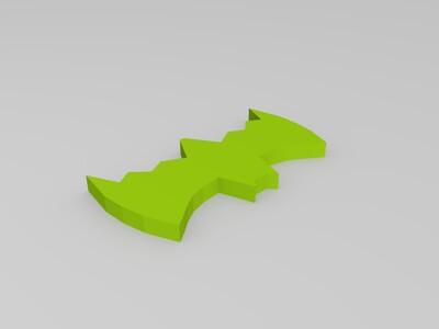 组装经典蝙蝠车-3d打印模型