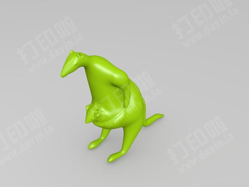 袋鼠妈妈和袋鼠宝宝-3d打印模型