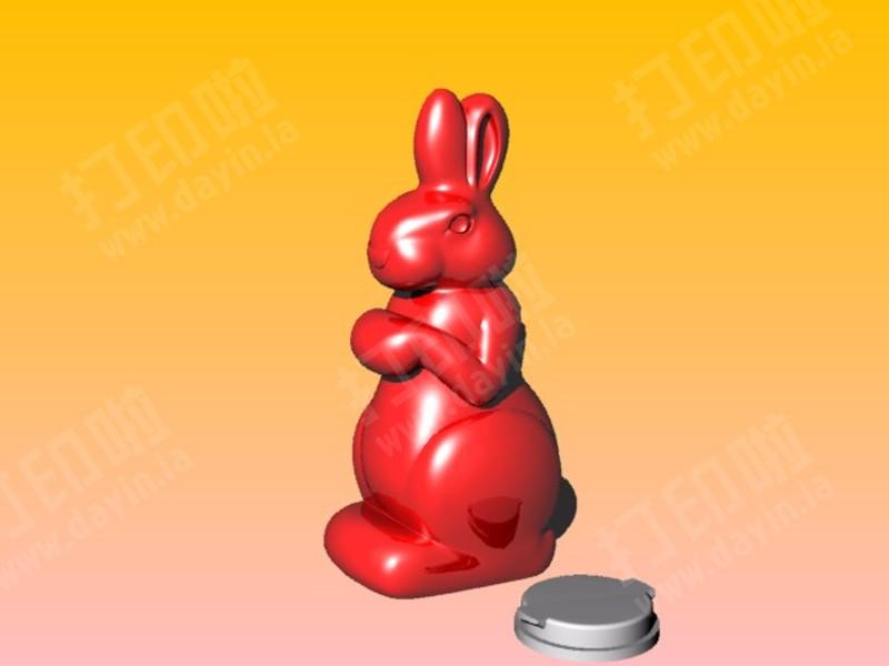 兔子存钱筒-3d打印模型