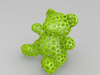 镂空小熊-3d打印模型